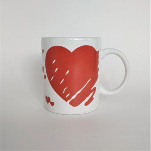 Vintage Red Heart Coffee Mug